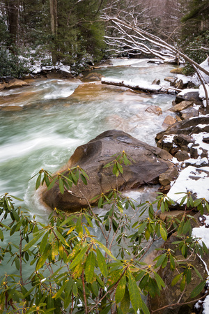 Deckers Creek Falls in Winter